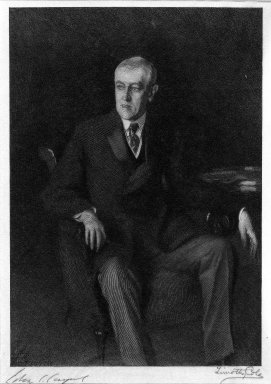 Timothy Cole (American, 1852-1931). Woodrow Wilson, 1918. Wood engraving Brooklyn Museum, Gift of Charles F. Zimmele, 33.241