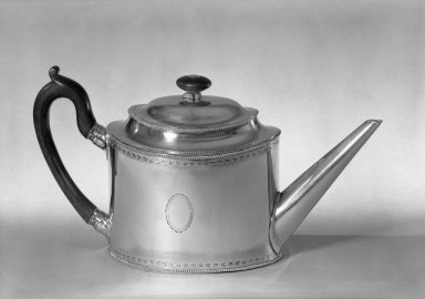 Chinese. Teapot, ca.1880. Silver, 6 x 11 1/2 x 4 in. (15.2 x 29.2 x 10.2 cm). Brooklyn Museum, George C. Brackett Fund, 33.246. Creative Commons-BY