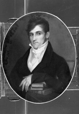 William Jewett (American, 1792-1874). Portrait of a Man, ca. 1820. Oil on canvas, 28 3/8 x 23 7/16 in. (72.1 x 59.5 cm). Brooklyn Museum, Bequest of Carll H. de Silver, 33.251