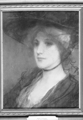 George H. Boughton (American, 1833-1905). Head of a Woman. Pastel on paperboard, 16 5/8 x 12 15/16 in. (42.2 x 32.9 cm). Brooklyn Museum, Gift of Cornelia E. and Jennie A. Donnellon, 33.282