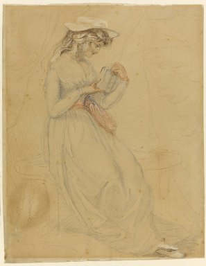 Edward Francis Burney (British, 1760-1848). Portrait of Fanny Burney d'Arblay, n.d. Graphite and color crayons on wove paper, 9 7/16 x 7 1/4 in. (24 x 18.4 cm). Brooklyn Museum, Carll H. de Silver Fund, 33.293
