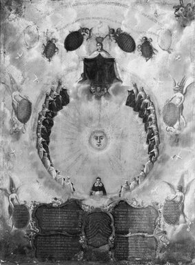 Sketch for Ceiling Decoration, 17th century. Oil on canvas, 46 x 35 1/2 in. (116.8 x 90.2 cm). Brooklyn Museum, Gift of Mrs. Henry Wolf, Austin M. Wolf, and Hamilton A. Wolf, 33.32