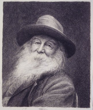 Thomas Johnson (American, born England, 1843-1904). Walt Whitman, ca. 1890. Etching, drypoint, on white wove paper, Plate: 11 15/16 x 9 in. (30.3 x 22.8 cm). Brooklyn Museum, Gift of Spencer Bickerton, 33.338