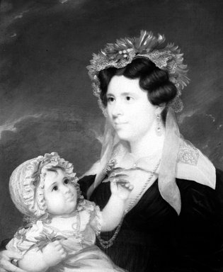 John  Wesley Jarvis (American, 1780-1840). Mrs. Eleanor Doran and Her Daughter Margaret, ca. 1830-1834. Oil on canvas, 29 3/4 x 24 7/8 in. (75.5 x 63.2 cm). Brooklyn Museum, Carll H. de Silver Fund, 33.4.2