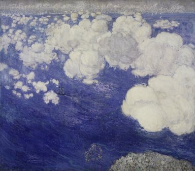 Boris Anisfeld (Russian, 1879-1973). Clouds over the Black Sea--Crimea, 1906. Oil on canvas, 49 1/2 x 56 in. (125.7 x 142.2 cm). Brooklyn Museum, Gift of Boris Anisfeld in memory of his wife, 33.416