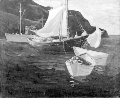 Brooklyn Museum: Fishing Boats, Monhegan
