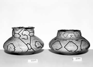Conibo. Pot. Ceramic, pigment, 7 1/16 x 5 1/2 x 5 1/2 in. (18 x 14 x 14 cm). Brooklyn Museum, Museum Expedition 1933, Purchased with funds given by Jesse Metcalf, 33.663. Creative Commons-BY