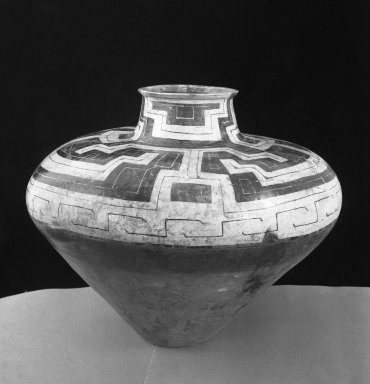 Conibo. Large Chicha Jar. Ceramic, pigments, 20 7/8 x 8 11/16 in. (53 x 22 cm). Brooklyn Museum, Museum Expedition 1933, Purchased with funds given by Jesse Metcalf, 33.677. Creative Commons-BY