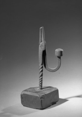 American. Rush Light Stand, 17th century. Slate, iron, Height: 8 1/8 in. (20.6 cm). Brooklyn Museum, Gift of Spencer Bickerton, 33.719. Creative Commons-BY