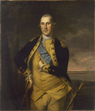 Charles Willson Peale (American, 1741-1827). George Washington, 1776. Oil on canvas, 44 x 38 5/16 in. (111.7 x 97.3 cm). Brooklyn Museum, Dick S. Ramsay Fund, 34.1178