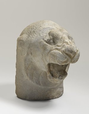 Sculptor's Model of Head of a Lion Roaring, 525-404 B.C.E. Limestone, 5 9/16 x 3 3/8 x 5 1/16 in. (14.1 x 8.5 x 12.8 cm). Brooklyn Museum, Charles Edwin Wilbour Fund, 34.1190. Creative Commons-BY