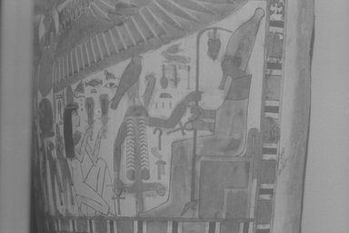 Egyptian. Inner Cartonnage of Gautseshenu, 700-650 B.C.E. Linen, plaster, pigment, 64 3/16 x 14 15/16 in. (163 x 38 cm). Brooklyn Museum, Charles Edwin Wilbour Fund, 34.1223. Creative Commons-BY