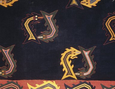 Nasca. Mantle, 0-100 C.E. Cotton, camelid fiber, textile: 118 1/8 x 63 3/4 in. (300 x 162 cm). Brooklyn Museum, Alfred W. Jenkins Fund, 34.1560