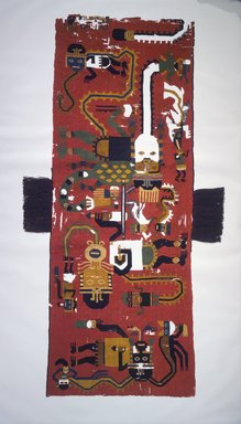 Nasca. Poncho or Tunic, 100-200 C.E. Camelid fiber, 74 7/16 x 27 9/16 in. (189.1 x 70 cm). Brooklyn Museum, Alfred W. Jenkins Fund, 34.1579