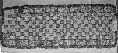 Proto-Nazca. Mantle, Small or Mantle?, 100-600 C.E. Cotton, camelid fiber, 53 15/16 x 20 1/2 in.  (137.0 x 52.0 cm). Brooklyn Museum, Alfred W. Jenkins Fund, 34.1585. Creative Commons-BY