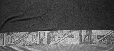 """Paracas Necropolis """"linear"""". Mantle or Turban, 100 B.C.E.-600 C.E. Cotton, camelid fiber, 72 13/16 x 36 in.  (185.0 x 91.5 cm). Brooklyn Museum, Alfred W. Jenkins Fund, 34.1591. Creative Commons-BY"""