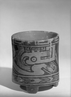 Jar, 500-800. Ceramic, 4 5/8 x 4 1/4 x 4 5/8 in. (11.7 x 10.8 x 11.7 cm). Brooklyn Museum, Alfred W. Jenkins Fund, 34.1710. Creative Commons-BY