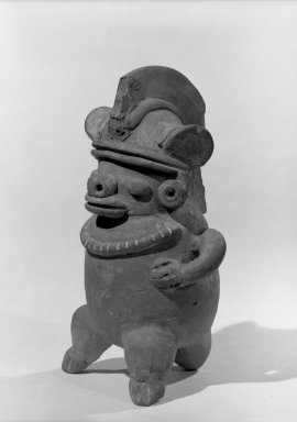 Whistle in the Form of a Human Figure, 200-500. Ceramic, 5 7/8 x 3 1/4 x 3 in. (15 x 8.3 x 7.6 cm). Brooklyn Museum, Alfred W. Jenkins Fund, 34.2137. Creative Commons-BY