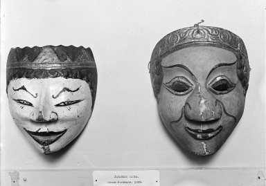 Theatrical Mask, 19th century. Carved wood, paint Brooklyn Museum, Brooklyn Museum Collection, 34.39. Creative Commons-BY