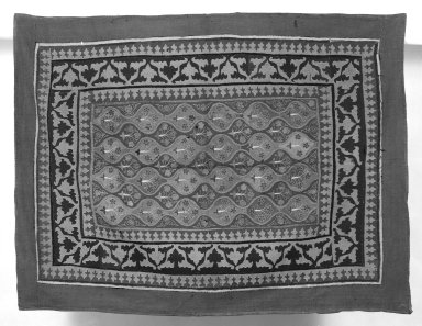 Prayer Mat, 17th-18th century. Flannel, 46 x 61 in. Brooklyn Museum, Gift of Pratt Institute, 34.379. Creative Commons-BY