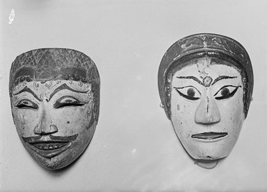 Theatrical Mask. Carved wood, paint Brooklyn Museum, Brooklyn Museum Collection, 34.37. Creative Commons-BY