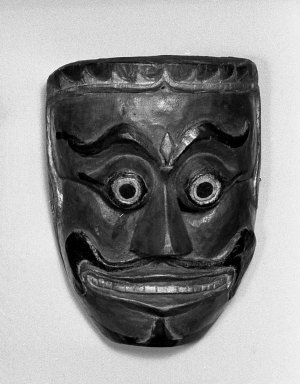 Theatrical Mask, 19th century. Carved wood, paint Brooklyn Museum, Brooklyn Museum Collection, 34.43. Creative Commons-BY