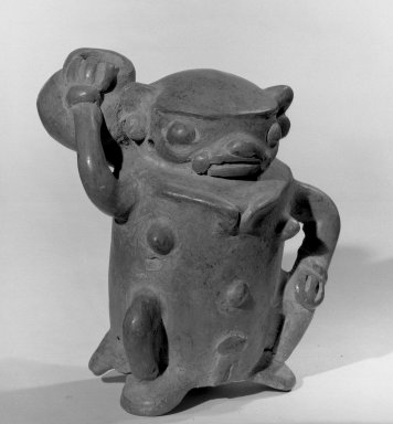 Human Figurine, 500-800. Ceramic, 4 7/8 x 4 x 4 1/4 in. (12.4 x 10.2 x 10.8 cm). Brooklyn Museum, Alfred W. Jenkins Fund, 34.4686. Creative Commons-BY