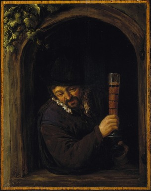 Adriaen van Ostade (Dutch, 1610-1685). Peasant at a Window, ca. 1660. Oil on panel, Frame: 19 1/2 x 17 1/4 in. (49.5 x 43.8 cm). Brooklyn Museum, Gift of the executors of the Estate of Colonel Michael Friedsam, 34.483