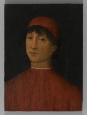 Bernardino di Betto, called Pinturicchio (Italian, Umbrian School, ca. 1454-1513). Portrait of a Young Man, ca. 1500. Tempera on panel, 14 9/16 x 10 9/16 in. (37 x 26.8 cm). Brooklyn Museum, Gift of the executors of the Estate of Colonel Michael Friedsam, 34.486