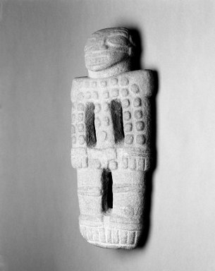 Male Figure, 1000-1550. Volcanic stone, 9 1/4 x 4 1/4 x 19 3/4 in. (23.5 x 10.8 x 50.2 cm). Brooklyn Museum, Alfred W. Jenkins Fund, 34.5147. Creative Commons-BY