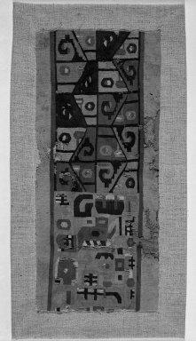 Wari. Tunic, Fragment, 600-1000. Cotton, camelid fiber, 16 15/16 X 7 1/2 in. (43 X 19 cm). Brooklyn Museum, George C. Brackett Fund, 34.550. Creative Commons-BY