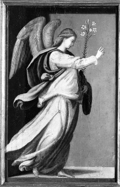 Style of Mariotto Albertinelli (Italian, Florentine, 1474-1515). Angel Annunciate; Virgin Annunciate, 16th century. Tempera on panels, Each: 11 1/2 x 7 1/2 in. (29.2 x 19.1 cm). Brooklyn Museum, Gift of Mary Babbott Ladd and Frank L. Babbott, Jr. in memory of their father Frank L. Babbott, 34.5592