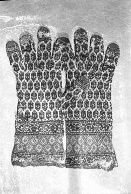 Brooklyn Museum: Pair of Man's Gloves