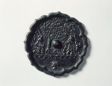 Mirror, 918-1392. Bronze, 1/2 x 6 1/16 in. (1.3 x 15.4 cm). Brooklyn Museum, Brooklyn Museum Collection, 34.5852. Creative Commons-BY