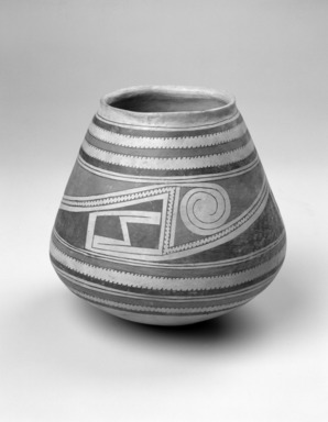 Southwest (unidentified) (Native American). Jar, 17th century. Clay, slip, galena, lead ore, 8 11/16 x 8 3/8 x 8 3/8 in. (22.1 x 21.3 x 21.3 cm). Brooklyn Museum, Brooklyn Museum Collection, 34.604. Creative Commons-BY