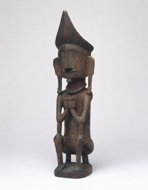 Ancestor Figure (Adu Bihara), early 20th century. Wood, pigment, 8 7/8 x 2 3/8 x 2 1/4 in. (22.5 x 6 x 5.7 cm). Brooklyn Museum, George C. Brackett Fund, 34.6075. Creative Commons-BY