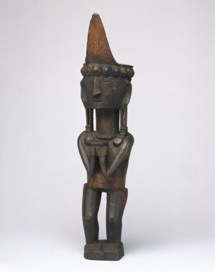 Ancestor Figure (Adu Bihara), early 20th century. Wood, pigment, 10 1/8 x 2 3/8 x 2 1/2 in. (25.7 x 6 x 6.4 cm). Brooklyn Museum, George C. Brackett Fund, 34.6076. Creative Commons-BY