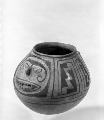Pueblo (unidentified) (Native American). Bowl. Pottery, lead ore, galena, 5 1/2 x 6 1/2 in.  (14.0 x 16.5 cm). Brooklyn Museum, Brooklyn Museum Collection, 34.621. Creative Commons-BY