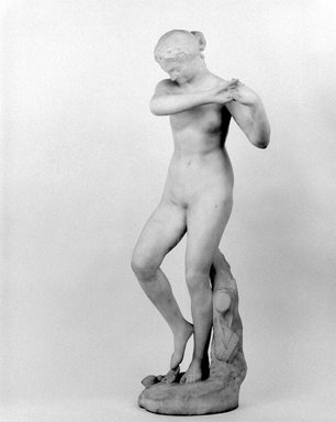 Olin Levi Warner (American, 1844-1896). Dancing Nymph, 1881. Marble, 37 x 13 3/4 x 11 3/4 in. (94 x 34.9 x 29.8 cm). Brooklyn Museum, Gift of Mary Babbott Ladd,  Helen Babbott MacDonald, Lydia Babbott Stokes, and Frank L. Babbott, Jr. in memory of their father Frank L. Babbott, 34.852. Creative Commons-BY