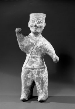 Mortuary Figure of a Man, 206 B.C.E.-220 C.E. Clay, unglazed, 10 1/2 x 6 x 3 3/8 in. (26.7 x 15.2 x 8.6 cm). Brooklyn Museum, Brooklyn Museum Collection, 34.879. Creative Commons-BY