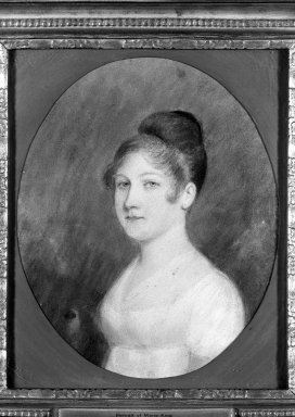 Felix Sharples (attributed to) (American, 1789-1844). Portrait of Marie King, n.d. Pastel on tan paper, Sight (oval): 8 7/8 x 7 5/16 in. (22.5 x 18.6 cm). Brooklyn Museum, 34.999