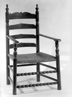 American. Armchair, Slatback, 1675-1725. Maple and other woods., 36 1/4 x 24 x 22 7/16 in. (92.0 x 61.0 x 57.0 cm). Brooklyn Museum, Museum Purchase Fund, 35.1052. Creative Commons-BY