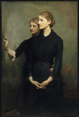Abbott H. Thayer (American, 1849-1921). The Sisters, 1884. Oil on canvas, 54 5/16 x 36 1/4 in. (138 x 92.1 cm). Brooklyn Museum, Bequest of Bessie G. Stillman, 35.1068
