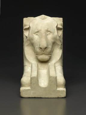 Waterspout in the Shape of a Lion, 664-30 B.C.E. Limestone, 7 1/2 x 4 1/2 x 8 9/16 in. (19 x 11.5 x 21.7 cm). Brooklyn Museum, Charles Edwin Wilbour Fund, 35.1311. Creative Commons-BY