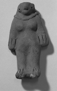 Molded Figurine of Woman. Clay Brooklyn Museum, Ella C. Woodward Memorial Fund, 35.1776. Creative Commons-BY