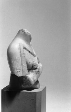 Fragment of a Shabti of Akhenaten, ca. 1352-1336 B.C.E. Alabaster, 3 5/8 x 2 15/16 x 1 5/8 in. (9.2 x 7.5 x 4.2 cm). Brooklyn Museum, Charles Edwin Wilbour Fund, 35.1883. Creative Commons-BY