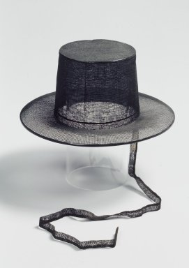 Official's Top Hat (Gat), late 19th-early 20th century. Horsehair, bamboo, Overall Height: 4 1/2 in. (11.5 cm). Brooklyn Museum, Gift of Mrs. Frederic B. Pratt, 35.1964.2. Creative Commons-BY