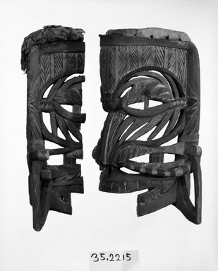 Mask. Painted wood, 14 9/16 x 8 11/16 in. (37 x 22 cm). Brooklyn Museum, Gift of Appleton Sturgis, 35.2215. Creative Commons-BY