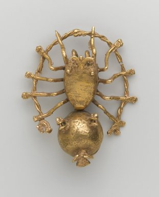 Possibly Chiriquí. Pendant in the Form of a Spider, ca.1200. Gold, 3 3/4 x 3 1/8 in. (9.5 x 8 cm). Brooklyn Museum, Alfred W. Jenkins Fund, 35.234. Creative Commons-BY