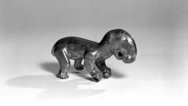 Standing Tapir. Copper, 2 3/16 x 3 3/4 in. (5.5 x 9.5 cm). Brooklyn Museum, Alfred W. Jenkins Fund, 35.267. Creative Commons-BY